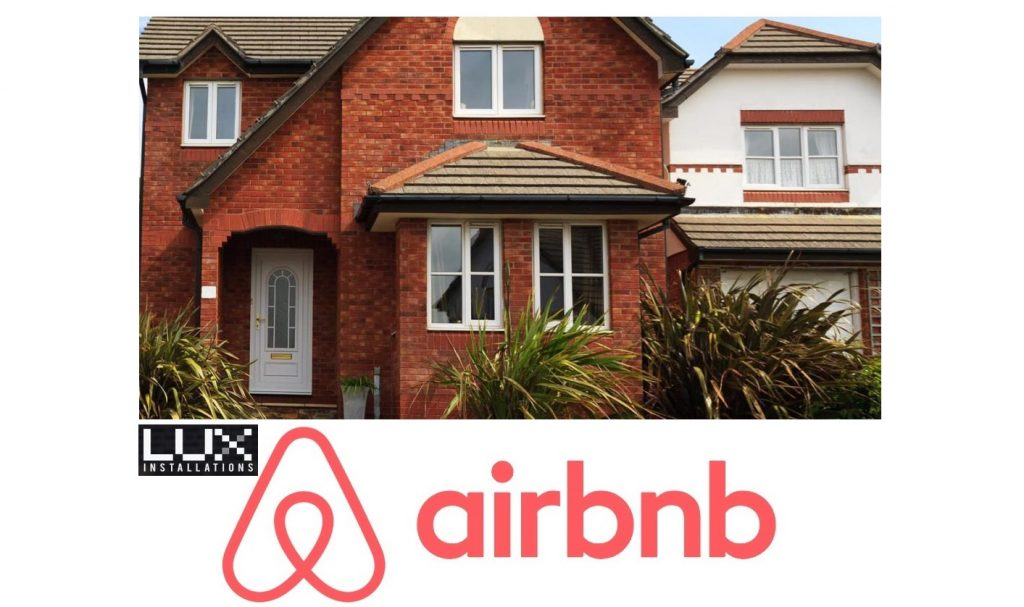 Airbnb Electricians London Bexleyheath Bromley Croydon Domestic Rewiring Security Lights Installed PAT Testing Lux Installation